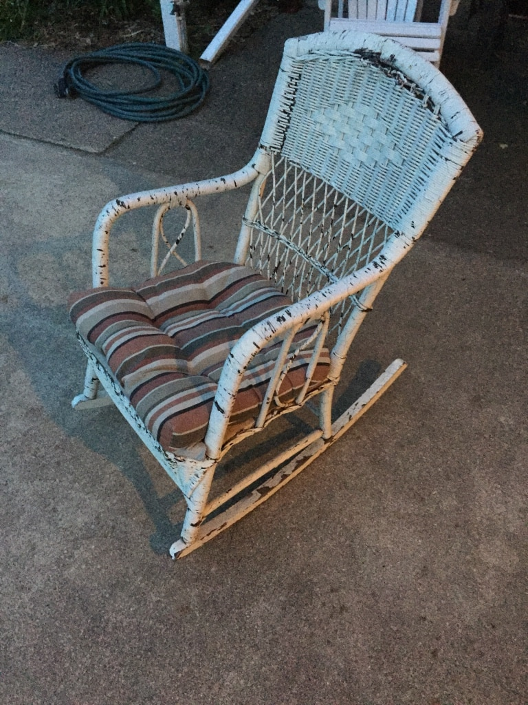 Incroyable Vintage Wicker Rocking Chair