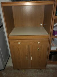 brown wooden cabinet with drawer Wadsworth, 44281