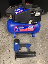 Air Compressor and Finish Nailer