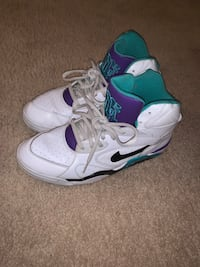 Nike FORCE JOHN SALLEY Mid Top White Turquoise Purple Insole/Nike AIR
