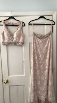 Blush colored 2 piece formal with iridescent stone  Ocean Springs, 39564