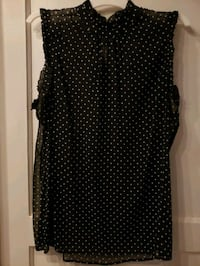 Womens black/polka dot dress shirt Levittown, 11756