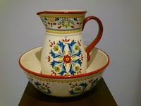 Red Sevilla Pitcher & Serving Bowl by Bobby Flay West Springfield