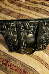 black and gray leather tote bag Lansing, 48910