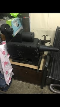 Antique projector with glass slides