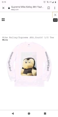 Rare Sold out Supreme x Mike Kelley Aah!Youth Washington, 20303