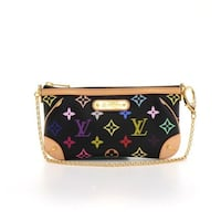 black and brown monogram Coach leather wristlet Fort Washington, 20744