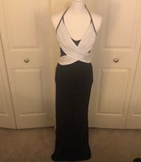 Venus black and white dress Stafford, 22556