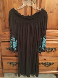 Small brown off the shoulder dress
