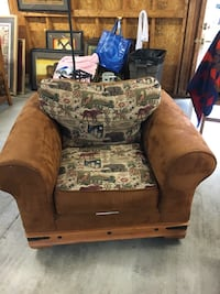 brown and beige floral sofa chair Potomac, 20854