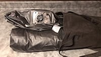 black and gray leather bag Port Coquitlam, V3C 1X8