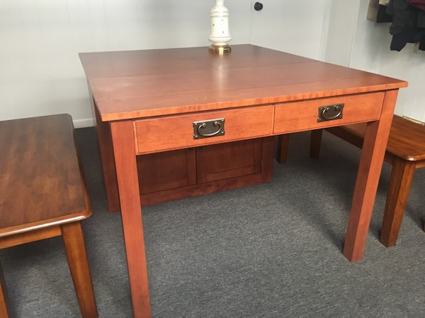 Stakmore Expanding Cabinet Table And Benches