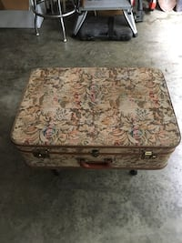 Brown and green floral ottoman Sparks Glencoe, 21152