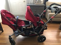Contour double stroller with infant car seat attachment. $50 Virginia Beach, 23452