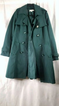 women's newyork and company green trench size M. Ellicott City, 21043