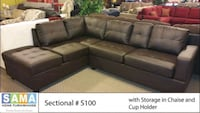 New modern sectional with reversable chaise  Toronto, M9W 1P6