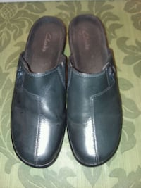 Clarks navy leather mules Dover, 17315