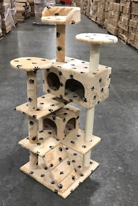 New in box 52 inches tall cat tree scratching play post pet furniture blueish grey or brown color Los Angeles, 90032