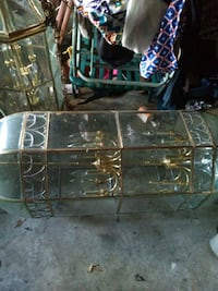black metal framed glass top table Jacksonville, 32210