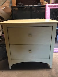 White wooden 2-drawer nightstand Washington, 20016