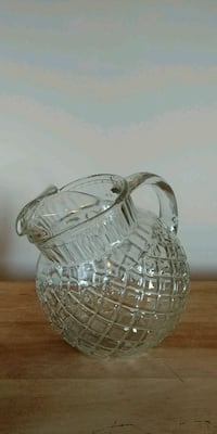 Vintage Cut Glass Water Pitcher Whitby