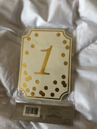 Gold and white table numbers  Martinsburg, 25404