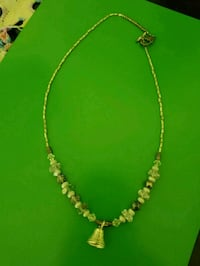 silver-colored beaded necklace 616 mi