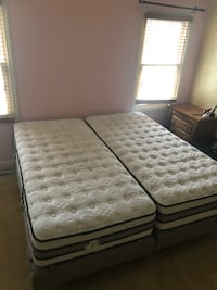 white and gray floral mattress