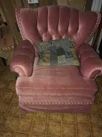 brown fabric sofa chair with ottoman Ontario, L3Z 2A6