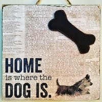 Distressed Dog lovers sign (10x9.8x0.7 inches) Surrey, V3X 1T9