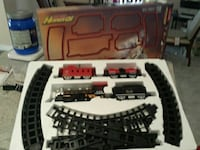 red and black train with rails plastic toy set in  Burlington, L7M