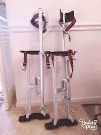 pair of gray-and-black crutches 9 mi