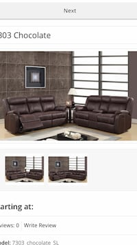 Rummy Chocolate Reclining Sofa and Love  Balch Springs, 75181