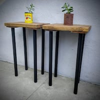 HANDMADE RECLAIMED WOOD SIDE TABLES / END TABLES / NIGHT STANDS North Hollywood