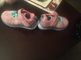 Baby girl polo shoes size 5M