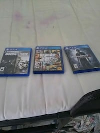 three Sony PS4 game cases Toronto, M1K 2W8