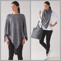 Lululemon Mantra Scarf (Heather Black / Weathered White) Toronto, M9A 3S9