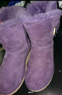 pair of purple Ugg Bailey 1-button boots