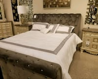 Brand New Cassimore Gray/Pearl Silver Upholstered Bedroom Set Odenton, 21113