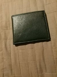 Black leather wallet Temple