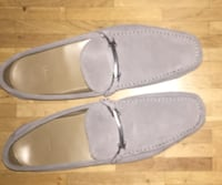 Hugo Boss Grey Suede Loafers. Size 44. Like new, worn once 6645 km