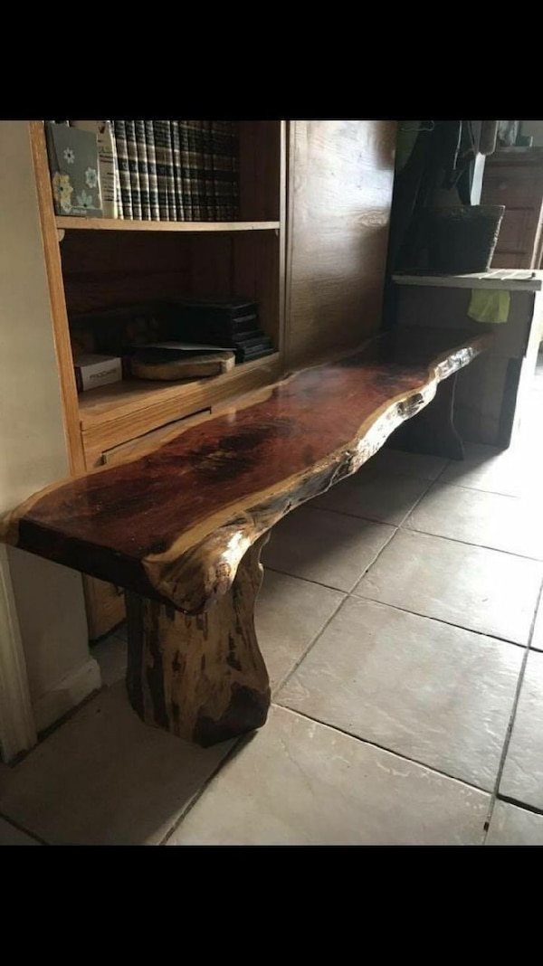 Used Natural cedar wood bench for sale in Atlantic Beach - letgo
