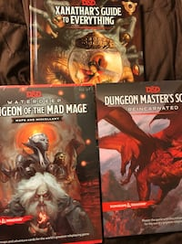 Dungeons and dragons books/maps