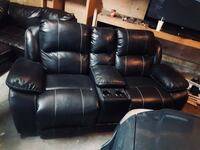 black leather home theater sofa St Albert, T8N 2Y2