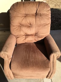 Brown fabric lift chair