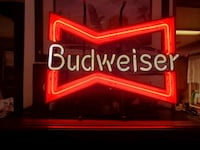 Vintage Budweiser neon light. man cave must have! King City, 97224