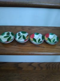 Pampered Chef Hand Painted Cruet / Dip Dishes 4 Total NO Chips. Pick Up in North Hagerstown MD.... $ 10.00 OBO Orchard Hills