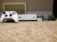 white Xbox One console with controller and game ca Edmonton, T5Y 3K1