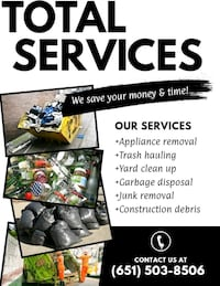 All junk hauling removal and clean outs  Anoka County