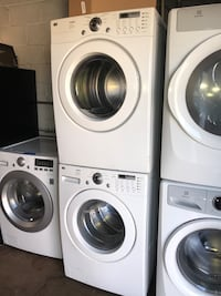 LG front load washer and electric dryer 4 months warranty
